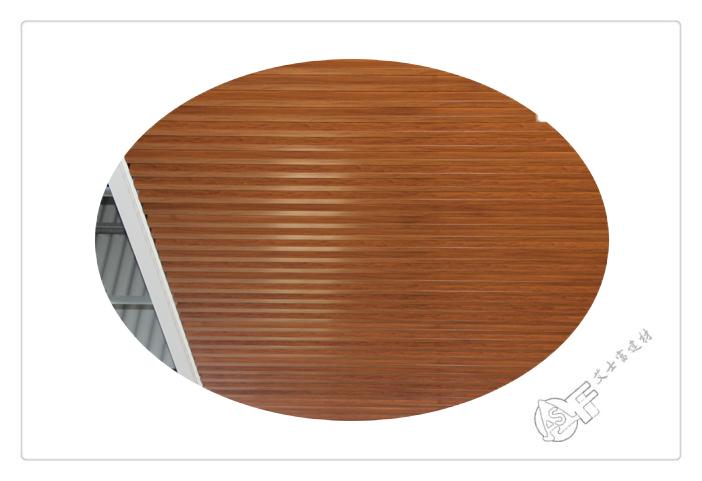 铝方通吊顶-木纹转印方通